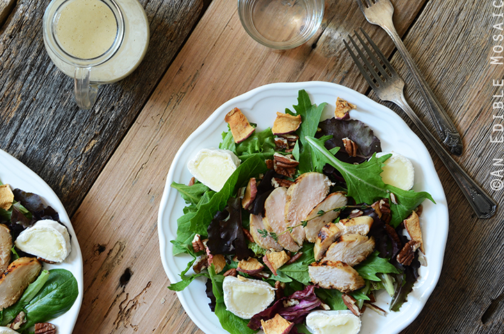 Apple, Onion, and Thyme Marinated Chicken Salad with Toasted Pecans 4