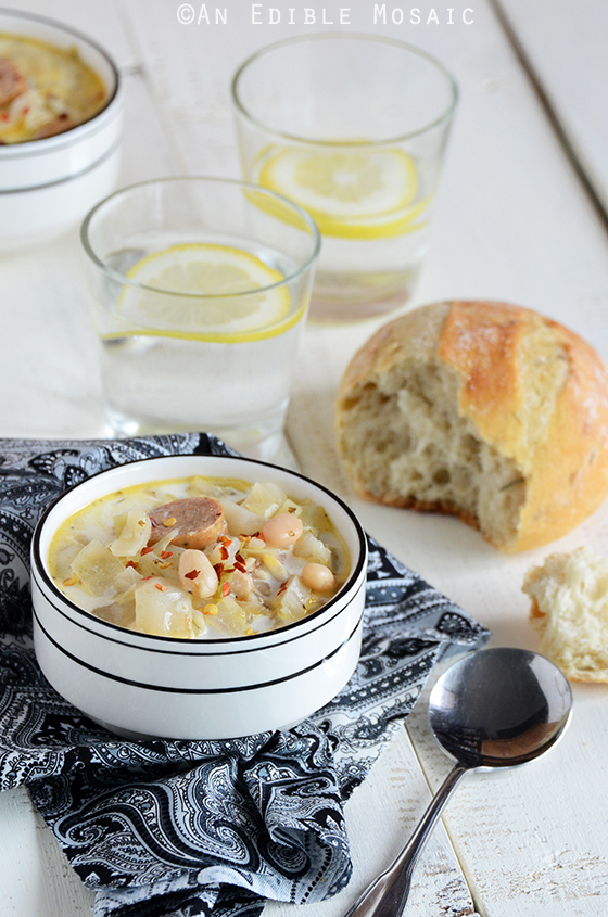 Cabbage, White Bean, and Sausage Soup 3