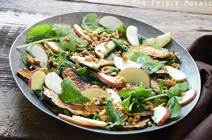 Harvest Kale Salad with Roasted Acorn Squash, Toasted Hazelnuts, and Apple-Cinnamon Dressing 3