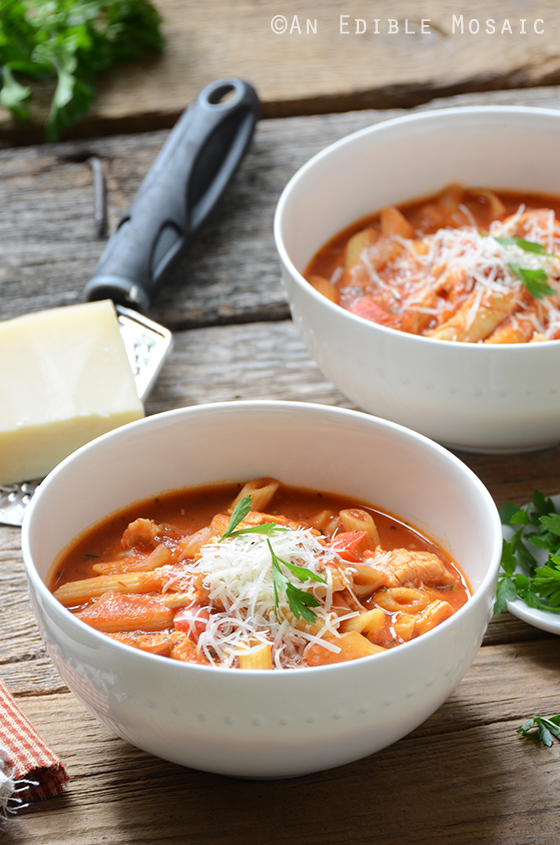 Easy Chicken Parm Soup 3