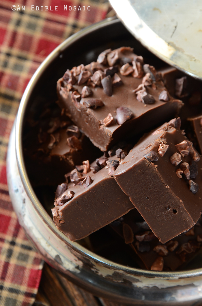 Easy Mocha Fudge with Cacao Nibs 2