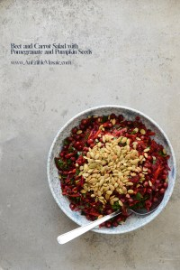 Beet and Carrot Salad with Pomegranate and Pumpkin Seeds {aka My Favorite Detox Salad}
