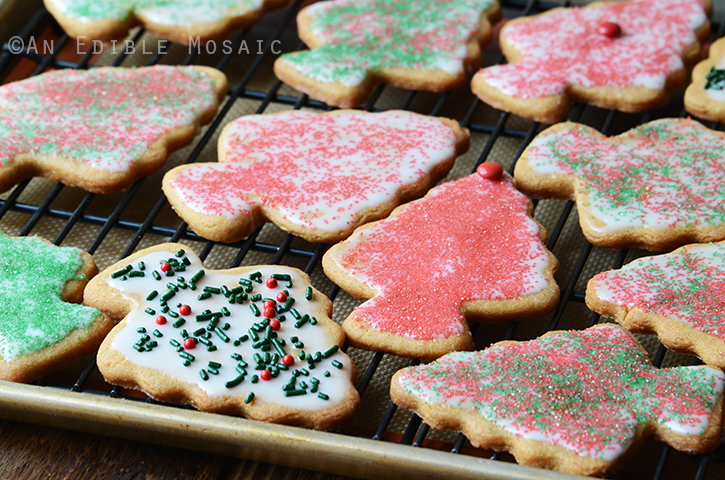 Iced Peanut Butter Christmas Tree Cookies 3