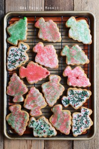 Iced Peanut Butter Christmas Tree Cookies