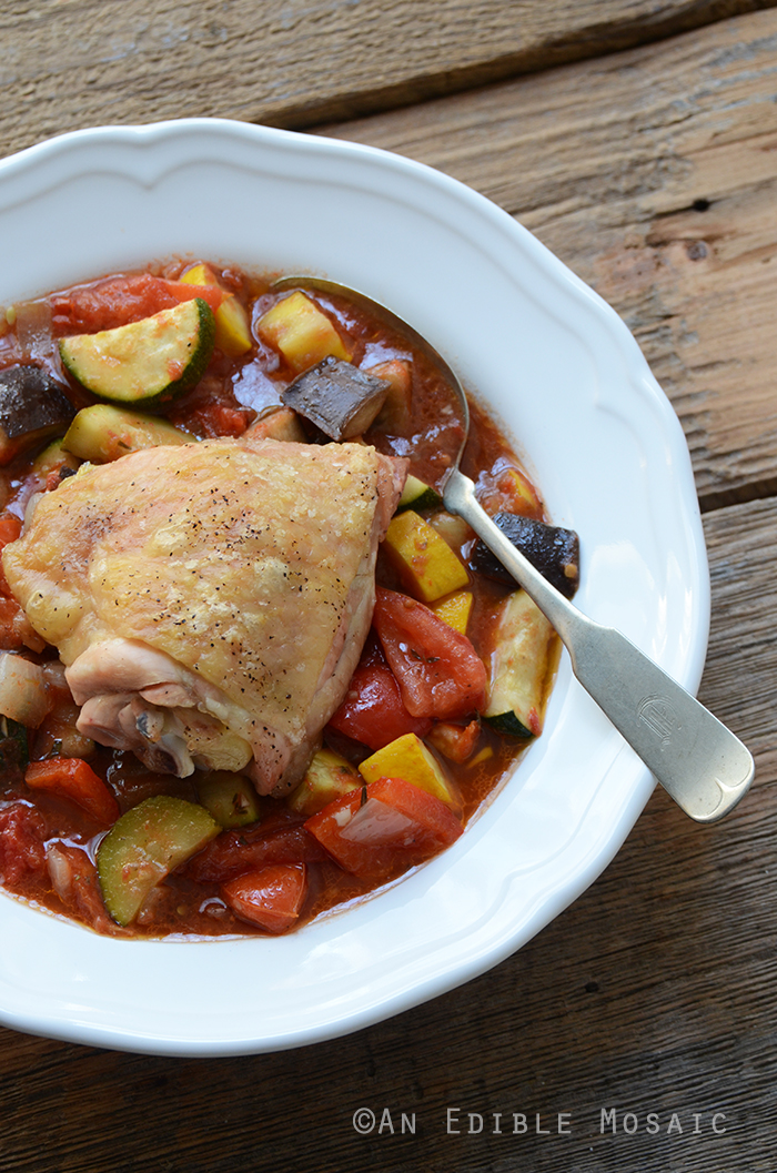 Roast Chicken Ratatouille {Paleo} 2