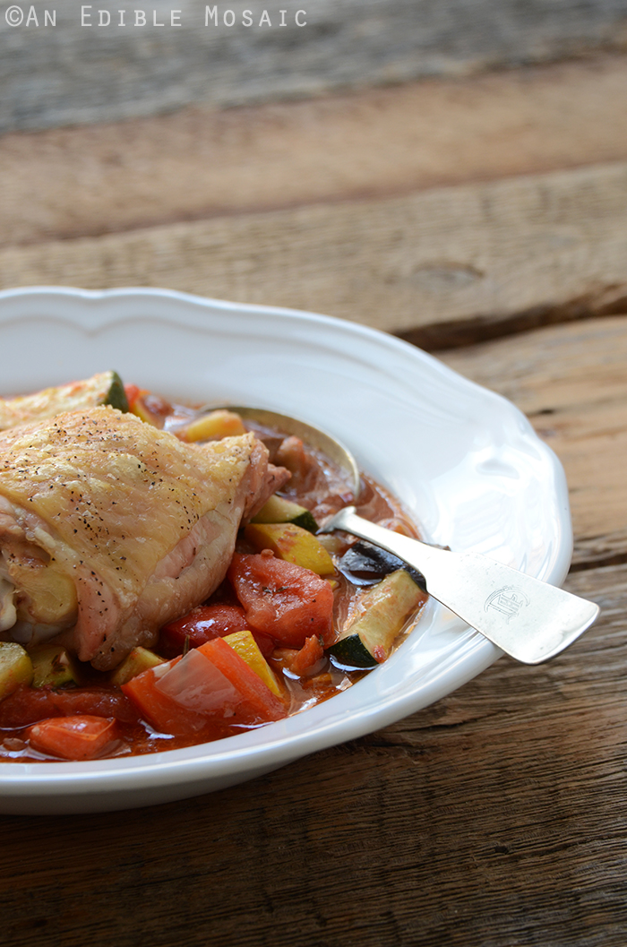 Roast Chicken Ratatouille {Paleo} 4
