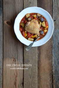 Paleo Roast Chicken Ratatouille {For Everyday Maven's Virtual Baby Shower!}