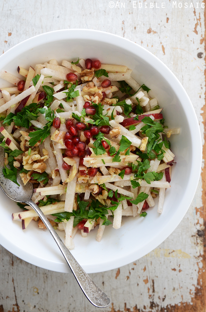 Jicama, Apple, and Pomegranate Salad with Raspberry-Dijon Vinaigrette 2