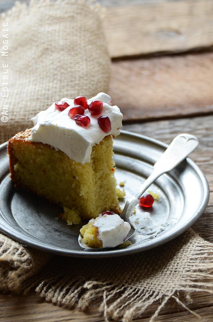Cardamom Saffron Cake 2