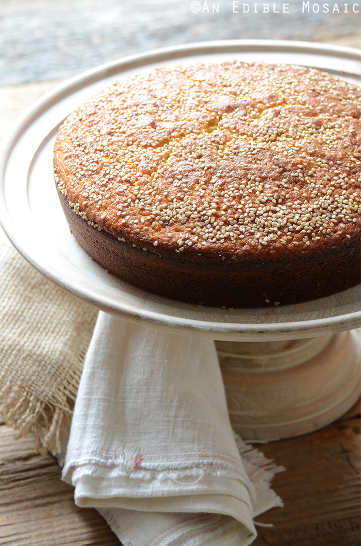 Simple Cardamom Saffron Cake
