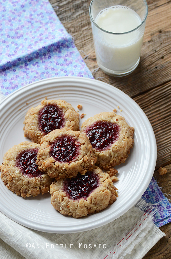 Coconut, Almond, and Raspberry Jam Thumbprint Cookies 2