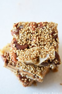 Sweet and Savory Teriyaki Nut Squares {Paleo}