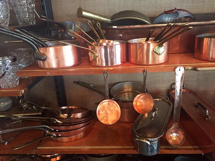 Copper Pots at Marche Clignancourt