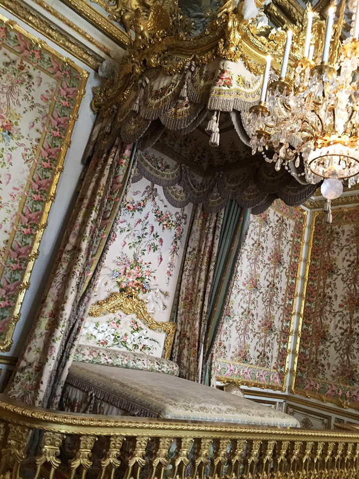 Marie Antoinette Bedchamber at Versailles