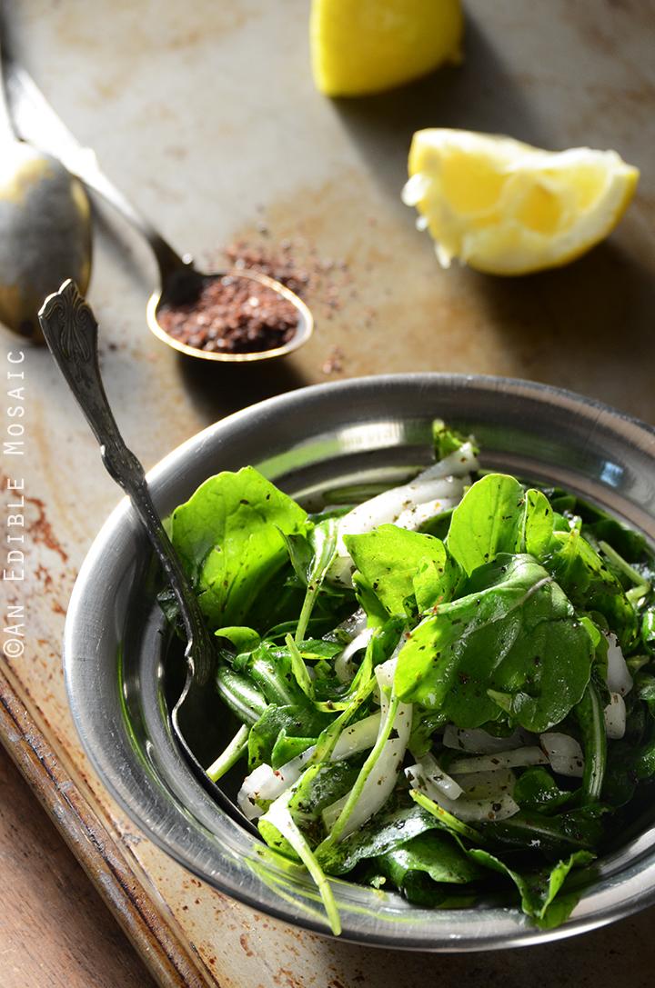 Tangy Arugala Salad with Sumac (Salatat Jarjeer) 1