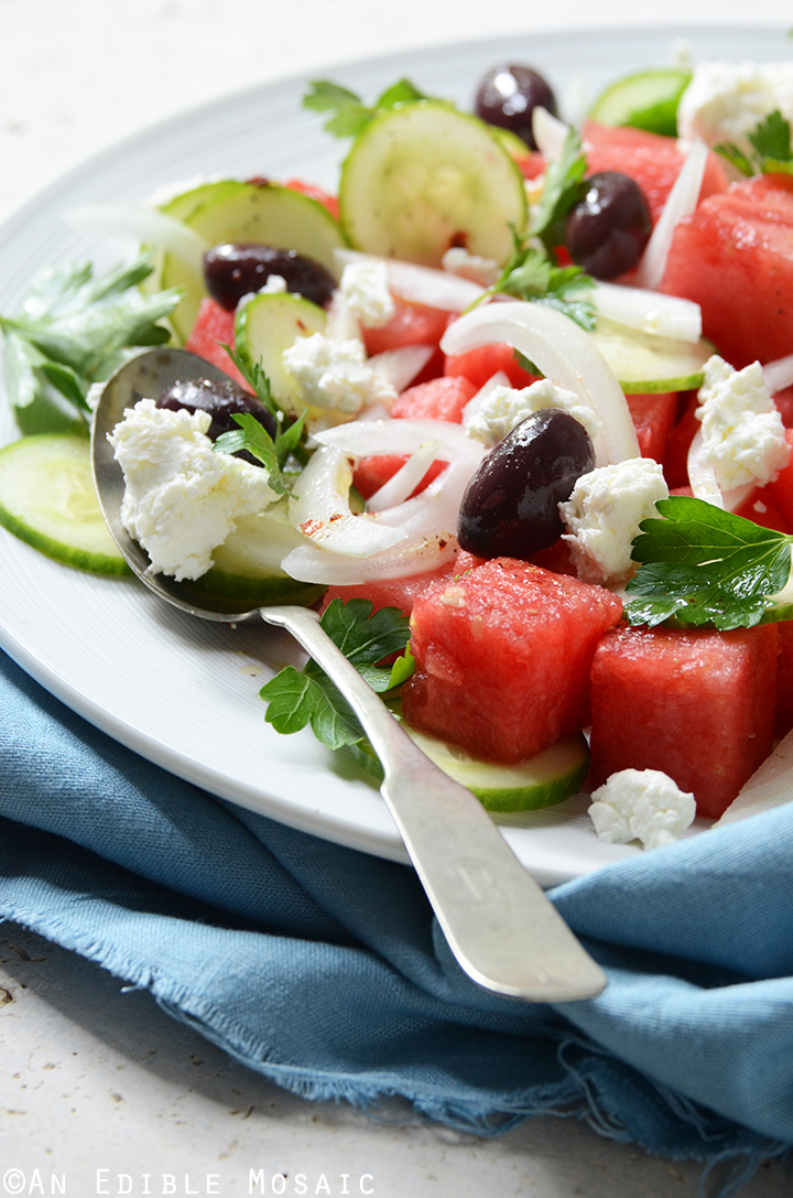 Watermelon Salad with Sweet and Spicy Vinaigrette 3