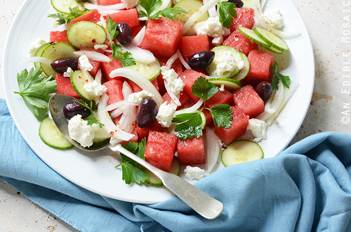 Watermelon Salad with Sweet and Spicy Vinaigrette 4