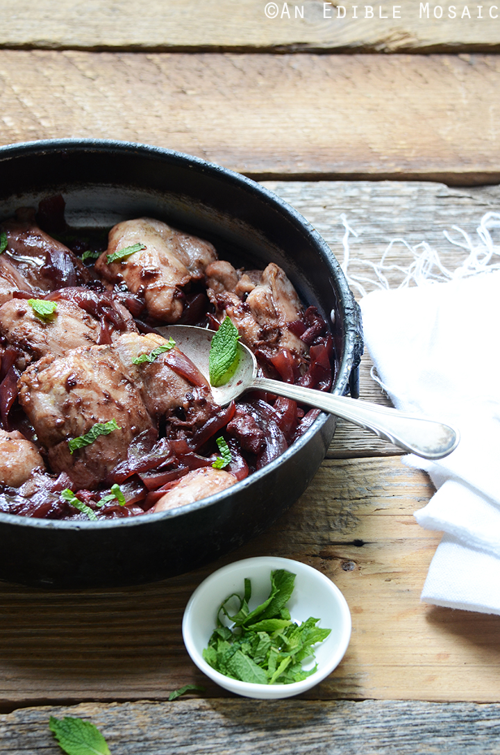 Braised Chicken Thighs in Black Tea Blackberry Sauce 3