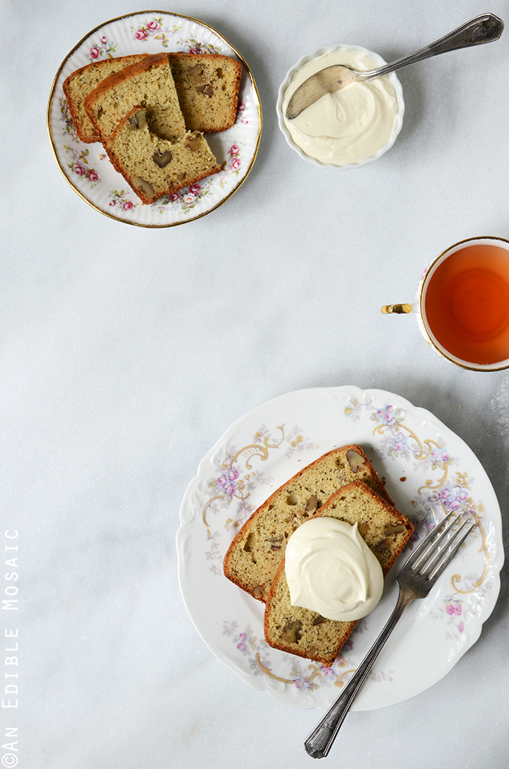 Earl Grey Tea and Honey Pound Cake with Walnuts 1