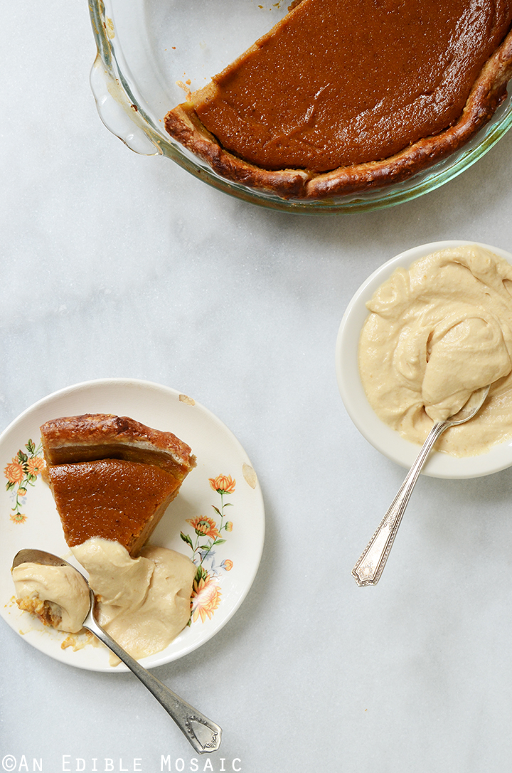 Maple Peanut Butter Pumpkin Pie with Maple Peanut Butter Whipped Cream 1