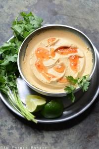 Peanutty Thai Curry Hummus
