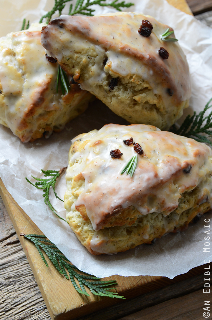 Christmas Morning Scones {aka Vanilla Bean, Nutmeg, and Rosemary-Scented Scones}
