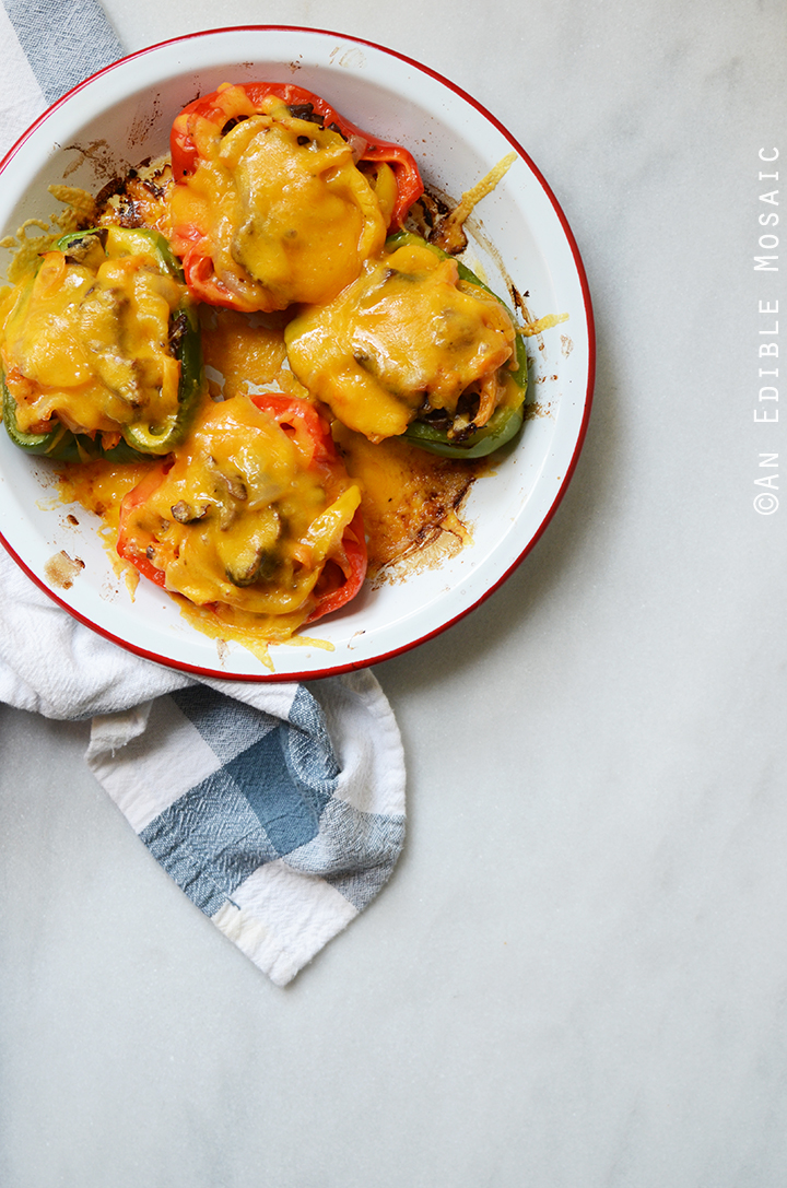 Easy Cheesesteak Stuffed Peppers {Gluten-Free} 1