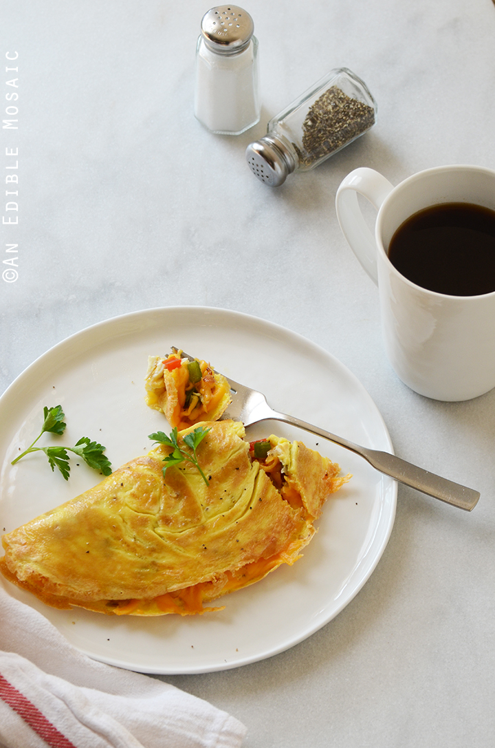 Cheesy Western Omelet {Lactose-Free; Gluten-Free} 1