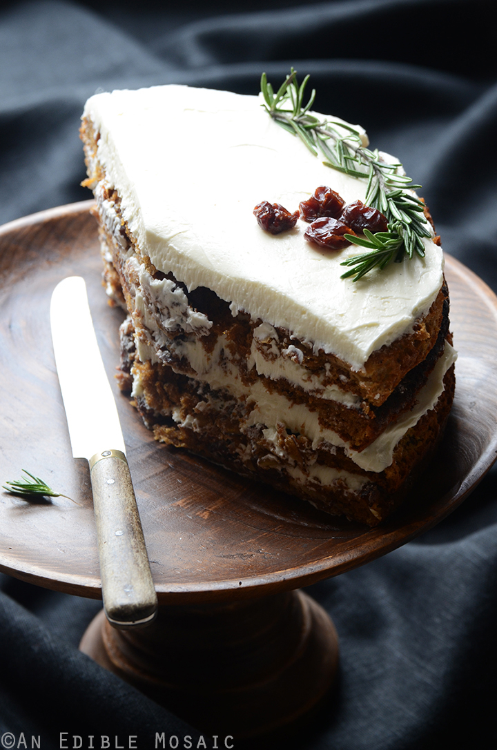 Gluten-Free Cherry Almond Cake with Rosemary Vanilla Bean Buttercream 5