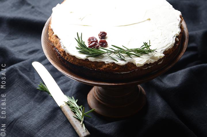 Gluten-Free Cherry Almond Cake with Rosemary Vanilla Bean Buttercream 6