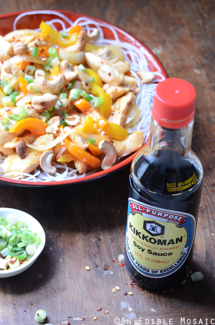 Soy Sauce Orange Cashew Chicken with Noodles 3