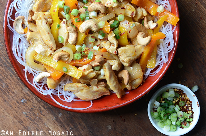 Soy Sauce Orange Cashew Chicken with Noodles 4