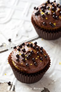 Yellow Cake Cupcakes with Fudgy Chocolate Buttercream for Two