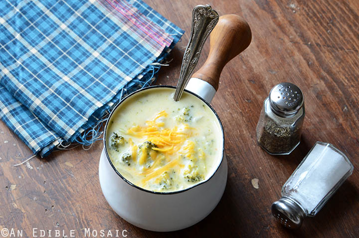 Broccoli Cheddar Soup {Gluten-Free; Lactose-Free} 4