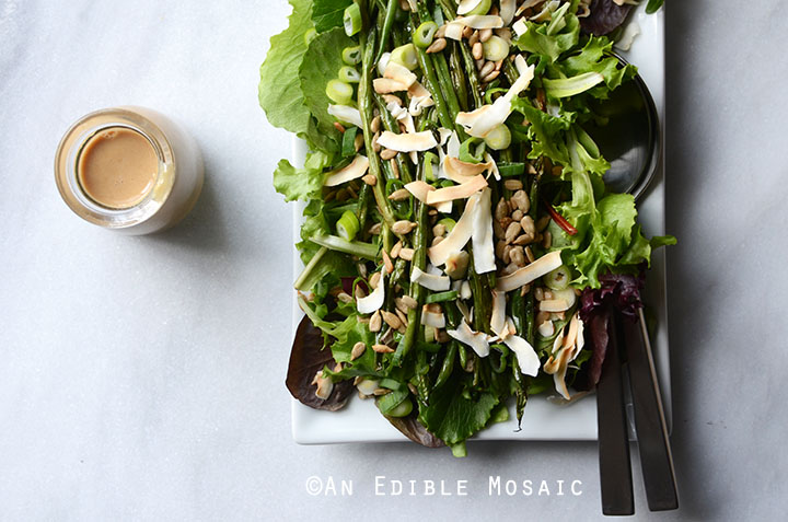 Spring Mix and Roasted Green Bean Salad with Creamy Maple-Miso Dressing 5