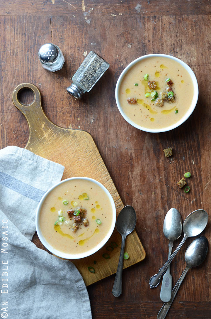 Beer and Cheese Cauliflower Soup 1