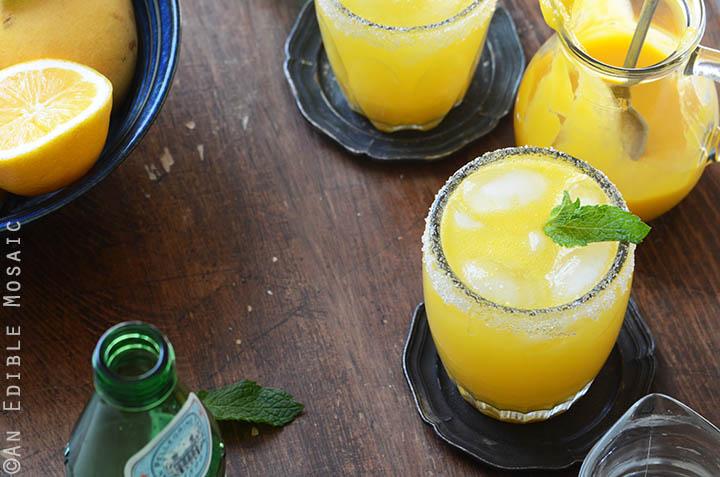 Mango Meyer Lemon Margarita Mocktails 6