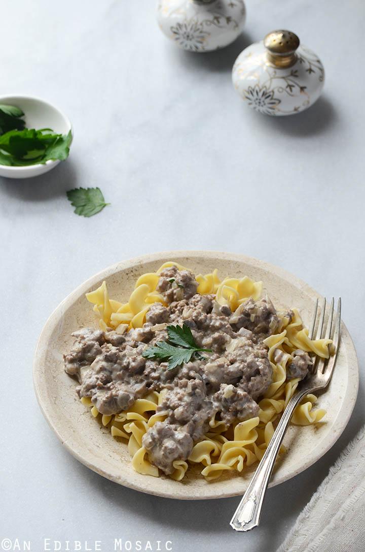 Quick Mushroom Beef Stroganoff Skillet Supper 3
