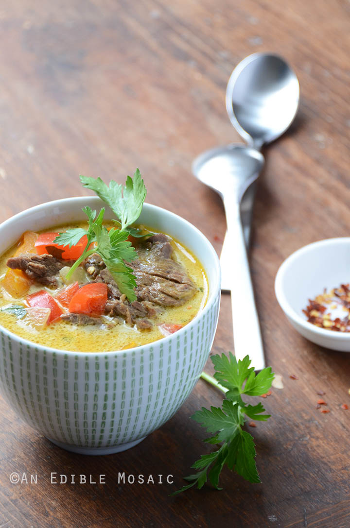 Thai Beef Coconut Curry Soup