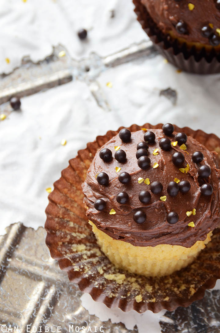 Yellow Cake Cupcakes with Fudgy Chocolate Buttercream for Two 2