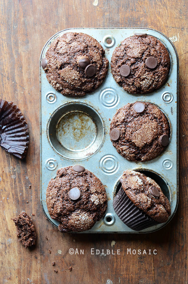 Mexican-Spiced Triple Chocolate Muffins 1