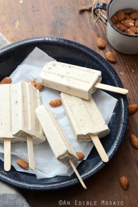 Cinnamon and Toasted Almond Dulce de Leche Cheesecake Popsicles