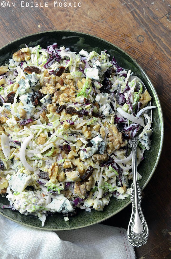 Creamy Coleslaw with Tart Cherries, Blue Cheese, and Toasted Walnuts 1