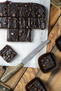 Secretly Healthy Fudgy Chocolate Sweet Potato Brownies {Paleo}