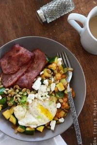 Smoked Paprika Zucchini Hash Breakfast Bowls