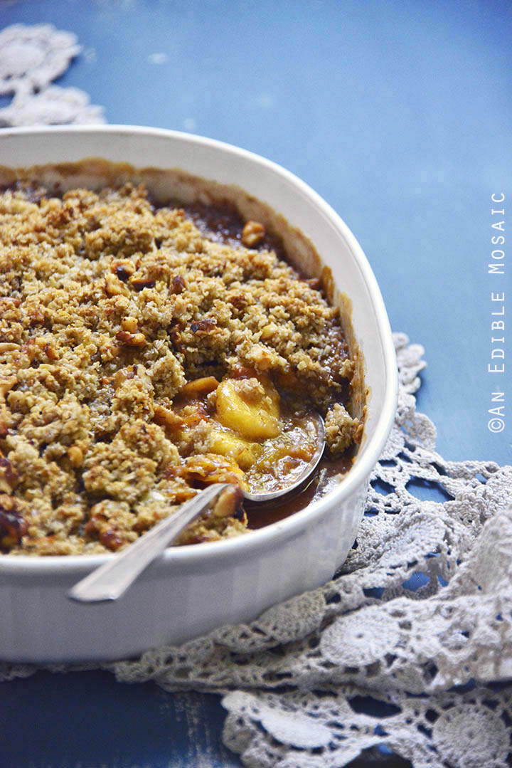 Spiced Maple Peach Oat Crisp 2