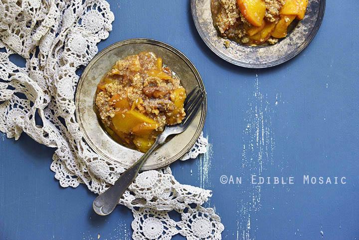 Spiced Maple Peach Oat Crisp 4