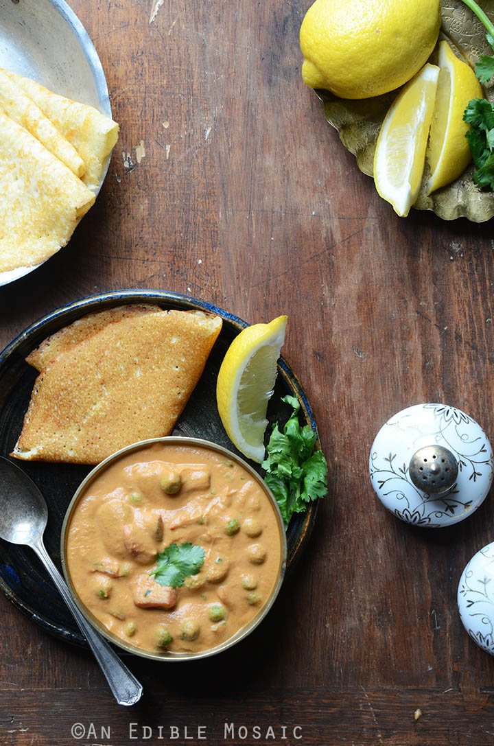 Creamy Cashew Mushroom and Green Pea Masala {Vegan} 1