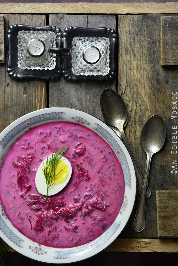 Polish Cold Beet Soup 1