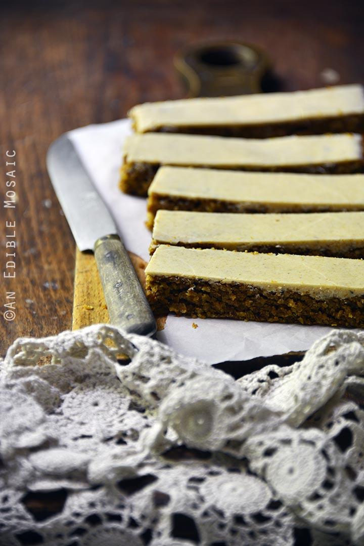 Pumpkin Spice Steel Cut Oat Bars with Pumpkin Spice White Chocolate Glaze {Vegan} 2